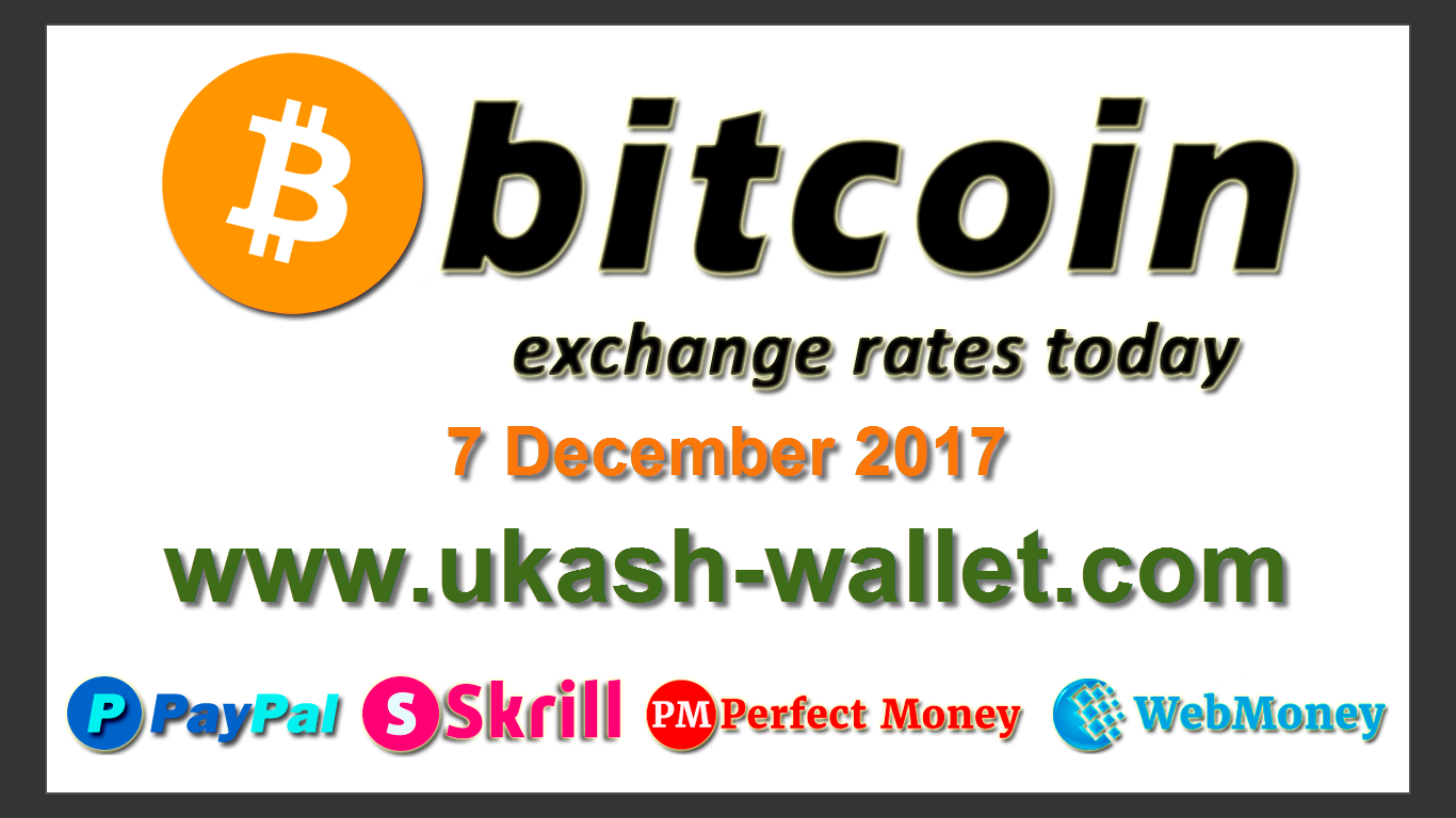 Paysafecard vouchers and Bitcoin / Litecoin / Ethereum exchange instantly:  http://ukash-wallet.com/ Bitcoin exchange rates today - 07 December 2017.