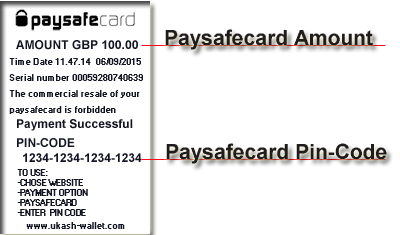 how to use a paysafecard