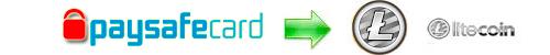 Exchange rates Paysafecard to Litecoin, Paysafecard to LTC