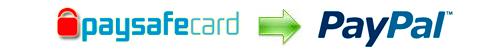 Exchange rates Paysafecard to PayPal GBP, Paysafecard to PayPal EUR, Paysafecard to PayPal USD.